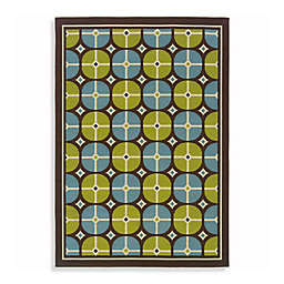 Cabana Bay Capri Indoor and Outdoor Rug in Blue/Green