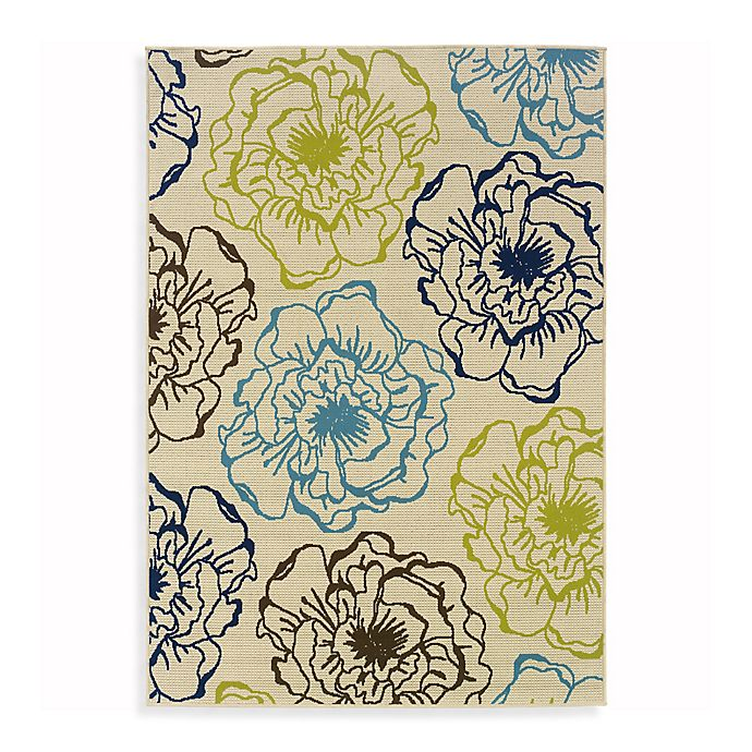 Alternate image 1 for Cabana Bay Capri 8-Foot 6-Inch x 13-Inch Indoor and Outdoor Rug in Ivory