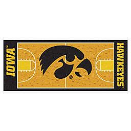 """University of Iowa Basketball Court 72"""" x 30"""" Runner"""