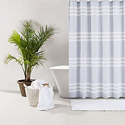 UGG® Riley Stripe 72-Inch x 72-Inch Shower Curtain in Denim