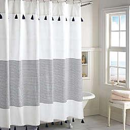 Peri Home Panama Stripe Shower Curtain