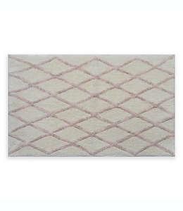 Fashion Lattice Tapete para baño de 50.8 x 83.82 cm en rosa blush/hueso