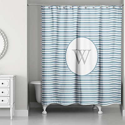 Designs Direct Nautical Stripes Shower Curtain