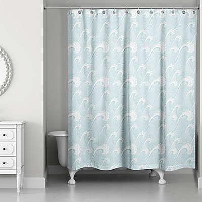 Designs Direct Ocean Waves Shower Curtain