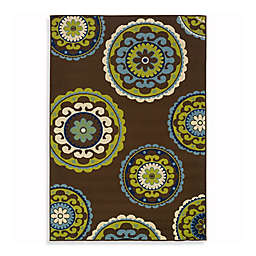 Cabana Bay Capri Indoor/Outdoor Rug in Brown