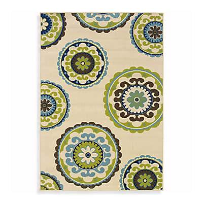 Cabana Bay Capri Indoor/Outdoor Rug in Ivory