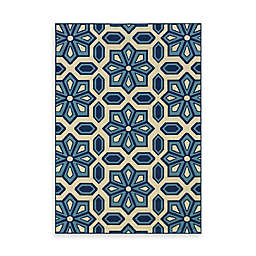 Cabana Bay Capri Crystal Indoor/Outdoor Rug in Blue