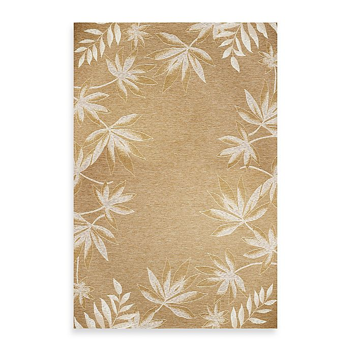 Alternate image 1 for KAS Horizon Sage Fern Border Indoor/Outdoor Rugs