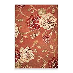 KAS Horizon Brick Red Flora Indoor/Outdoor Rugs