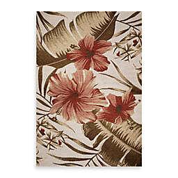 KAS Horizon Ivory Hibiscus Indoor/Outdoor Rug