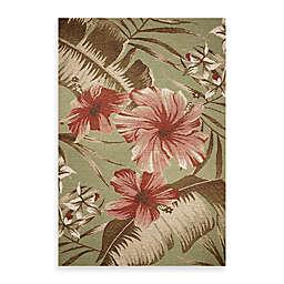 KAS Horizon Sage Hibiscus Indoor/Outdoor Rug