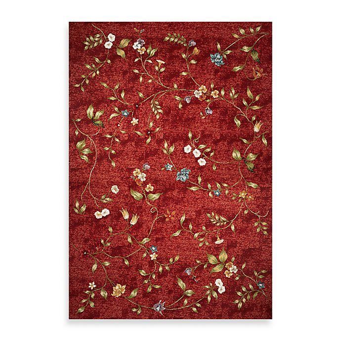 Kas Horizon Red Floral Indoor Outdoor Rugs Bed Bath Beyond
