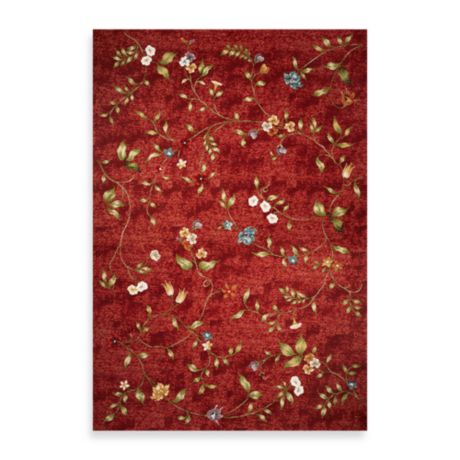 Kas Horizon Red Floral Indoor Outdoor Rugs Bed Bath Amp Beyond