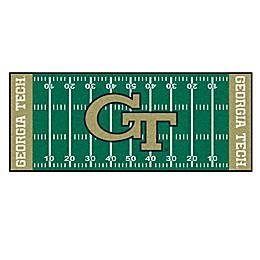 """Georgia Tech Football Field 72"""" x 30"""" Runner"""