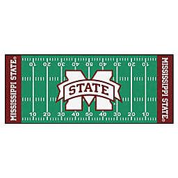 """Mississippi State University Football Field 72"""" x 30"""" Runner"""