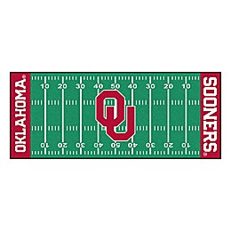 "University of Oklahoma Football Field 72"" x 30"" Runner"