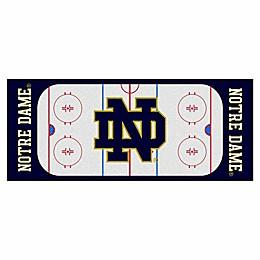 University of Notre Dame ND Logo Hockey Rink Carpeted Runner Mat