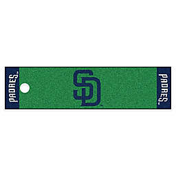 MLB San Diego Padres 6-Foot Putting Green Mat with Ball Cup Back-Stop