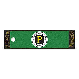 MLB Pittsburgh Pirates 6-Foot Putting Green Mat with Ball Cup Back-Stop