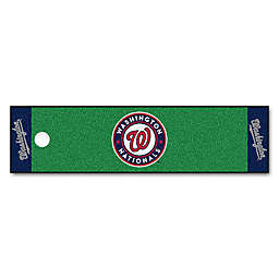 MLB Washington Nationals 6-Foot Putting Green Mat with Ball Cup Back-Stop