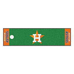 MLB Houston Astros 6-Foot Putting Green Mat with Ball Cup Back-Stop