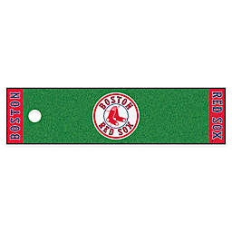 MLB Boston Red Sox 6-Foot Putting Green Mat with Ball Cup Back-Stop