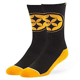 d3e4919ce3206a NFL Pittsburgh Steelers Crew Socks