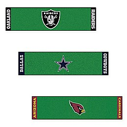 NFL 6-Foot Putting Green Mat with Ball Cup Back-Stop Collection