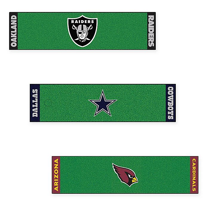 Alternate image 1 for NFL 6-Foot Putting Green Mat with Ball Cup Back-Stop Collection
