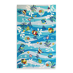 KAS® Sonesta 2-Foot x 7-Foot 6-Inch Runner in Blue Tropical Fish