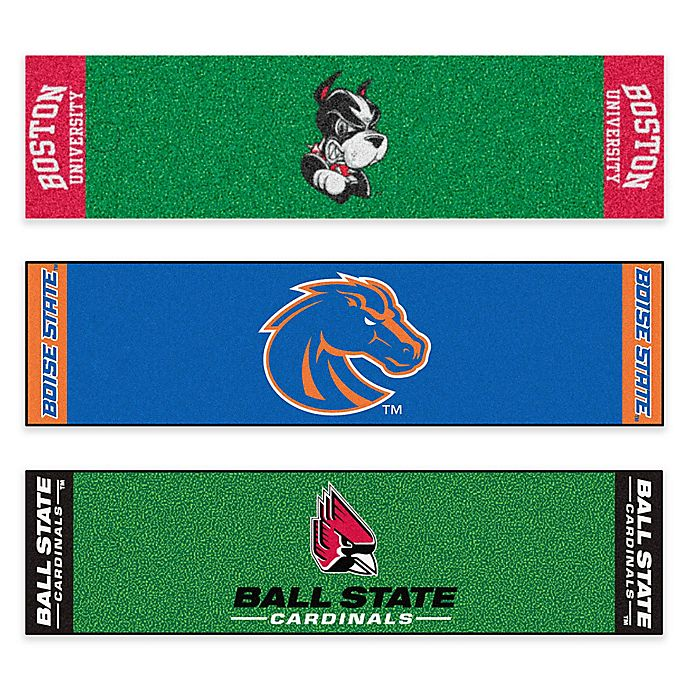 Alternate image 1 for Collegiate 6-Foot Putting Green Mat with Ball Cup Back-Stop Collection
