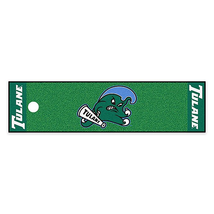 Alternate image 1 for Tulane University 6-Foot Putting Green with Ball Cup Back-Stop