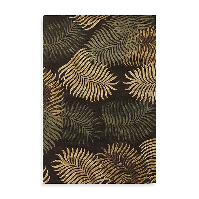 Alternate image 1 for KAS Havana Espresso Fern View Rug