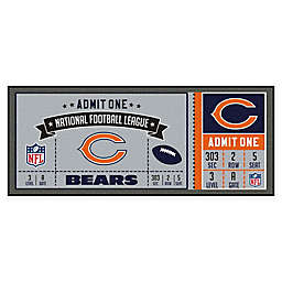 NFL Chicago Bears Game Ticket Carpeted Runner Mat