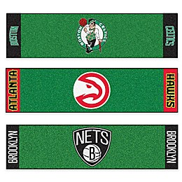 NBA 6-Foot Putting Green Mat with Ball Cup Back-Stop Collection