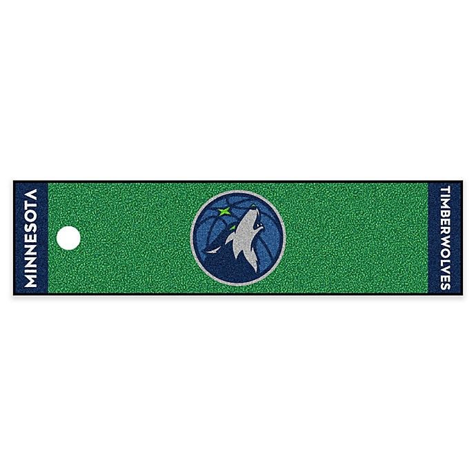 Alternate image 1 for NBA Minnesota Timberwolves 6-Foot Putting Green with Ball Cup Back-Stop
