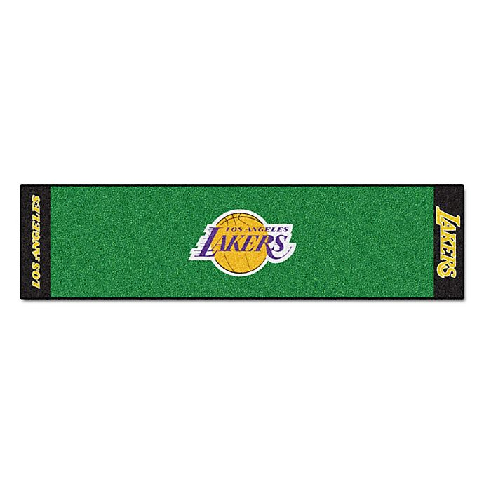 Alternate image 1 for NBA Los Angeles Lakers 6-Foot Putting Green with Ball Cup Back-Stop