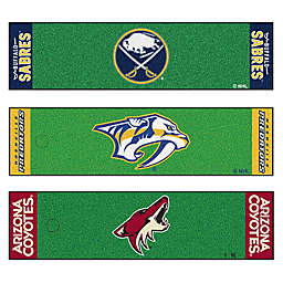 NHL 6-Foot Putting Green Mat with Ball Cup Back-Stop Collection