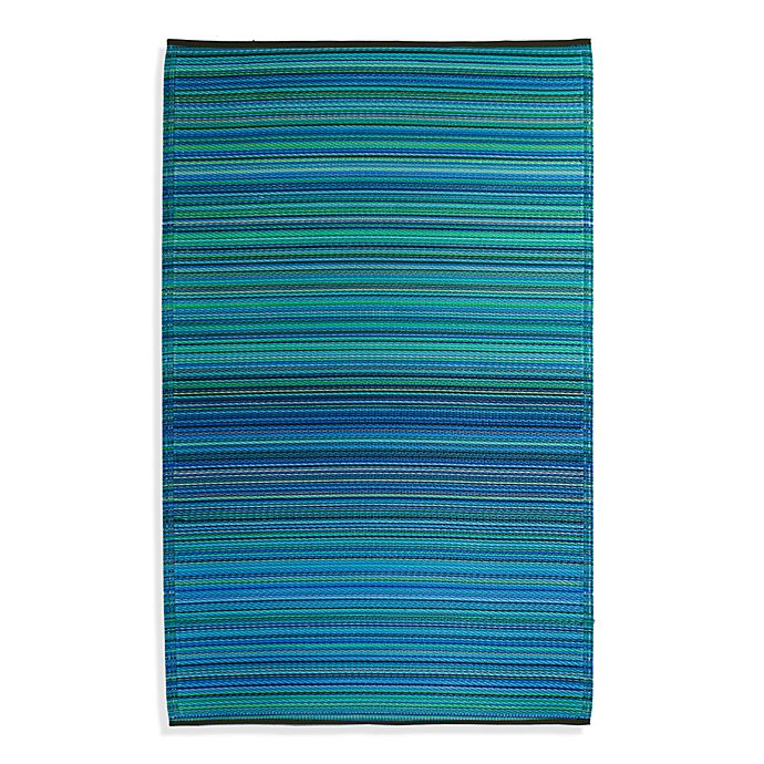 Alternate image 1 for Fab Habitat Cancun Turquoise & Moss Green Indoor/Outdoor Rug