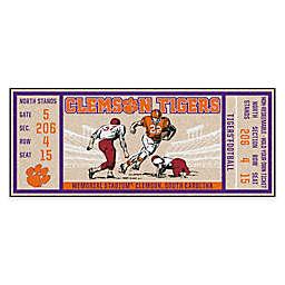 Clemson University Game Ticket Carpeted Runner Mat