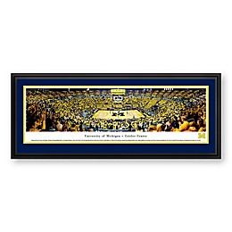 University of Michigan Panoramic Print with Deluxe Frame