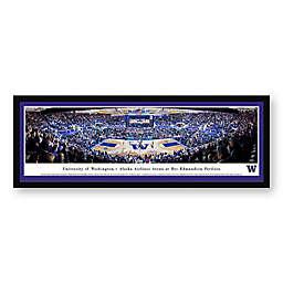 University of Washington Panoramic Basketball Arena Framed Wall Art