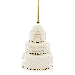 Lenox® 2019 First Christmas Together Cake Ornament