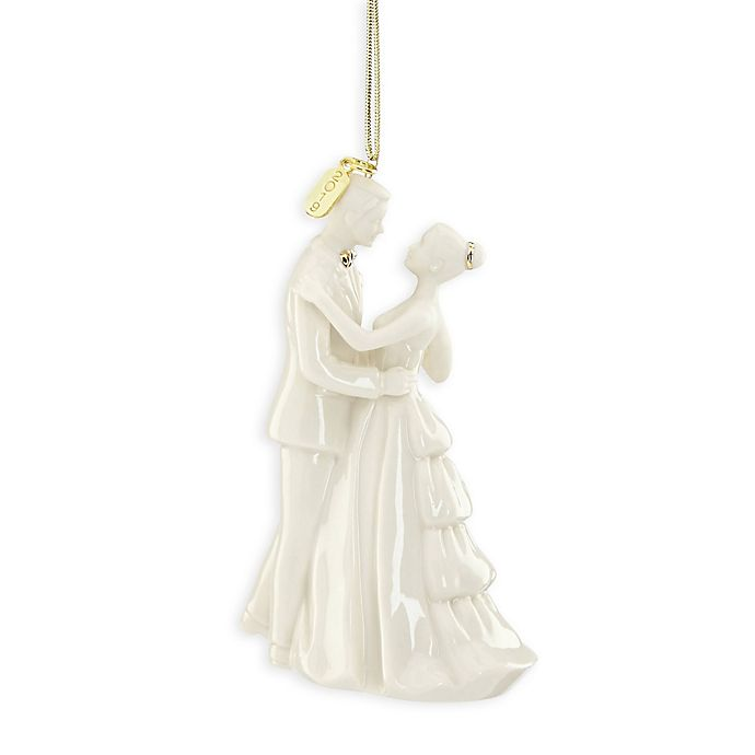 Alternate image 1 for Lenox® 2019 Bride and Groom Christmas Ornament