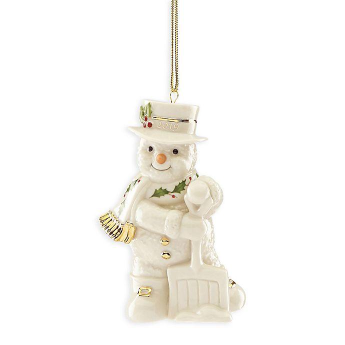 Alternate image 1 for Lenox® 2019 Shoveling Snowman Christmas Ornament