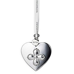 Waterford® 2019 Annual 4.3-Inch Silver Heart Christmas Ornament