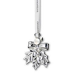 Waterford® 2019 3-Inch Silver Holly Christmas Ornament