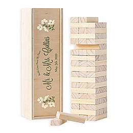 Cathy's Concepts Floral Building Block Wedding Guest Book Box