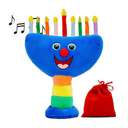 Aviv Judaica Hanukkah Musical Menorah Plush