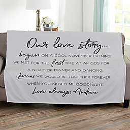 Our Love Story Fleece Throw Blanket